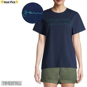 T&T Cute Embroidered Words SS Summer Tee XXL/18-20